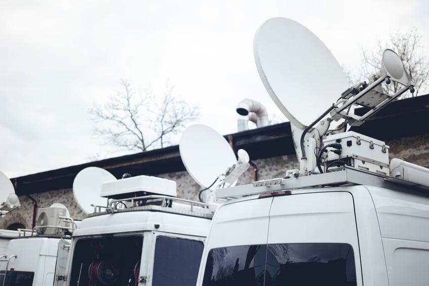 Fleet of broadcast vehicles