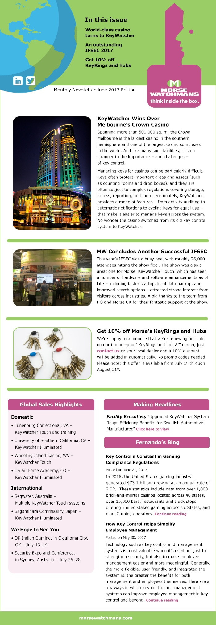 Morse Watchmans Monthly E-Newsletter